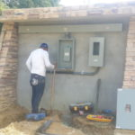 Site electric work